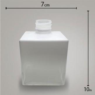 Frasco Cube Branco Degradê 250ml.