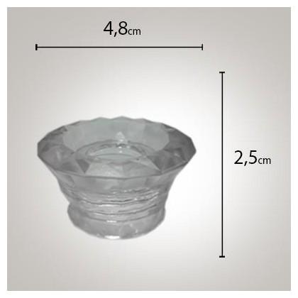 Tampa Aromatizador Glass Majestic 28/410