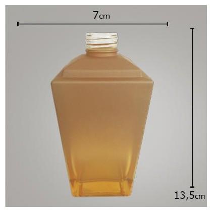 Vidro Trapézio Dourado Degradê 250ml