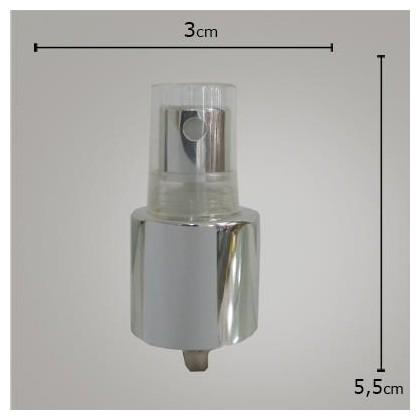Valvula Spray Luxo Prata TP Transp 24/415