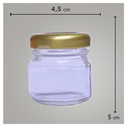 Kit Pote Geleinha C/ Tampa Dourada 40g
