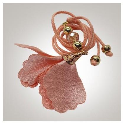 Miçanga Camurça Mini Flor Rose