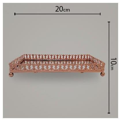 Bandeja de Ferro Retangular Cobre