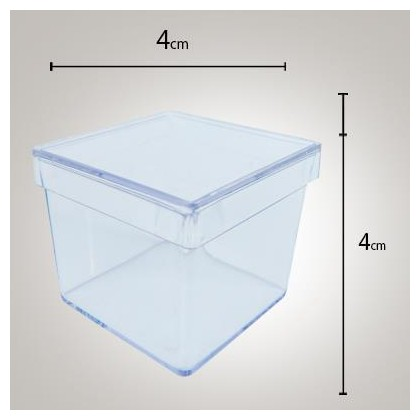 Caixa Acrílica 4x4