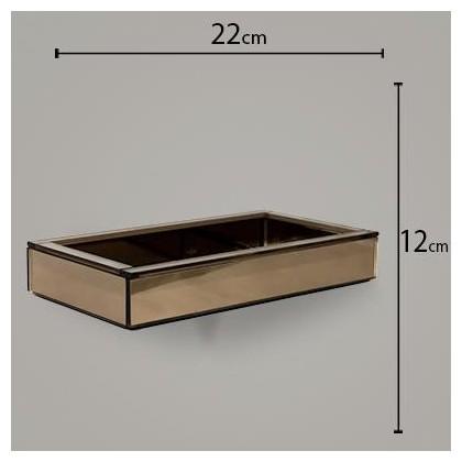 Bandeja Espelhada Bronze 12x22