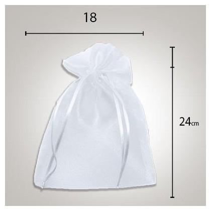 Saco de Organza 18 x 24 Branco