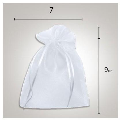 Saco de Organza 7 x9 Branco