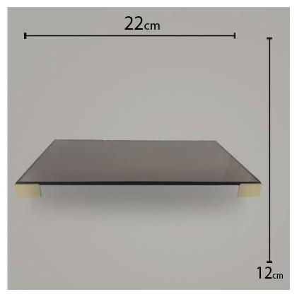 Bandeja Pé Quadrado Bronze C/ Dourado 12x22