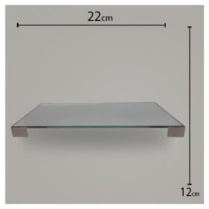 Bandeja Pé Quadrado Espelho C/ Prata 12x22