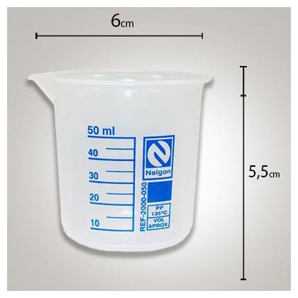 Copo Becker Polipropileno 50ml