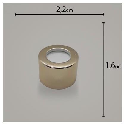 Tampa Metal Luxo R20 Ouro C/ furo