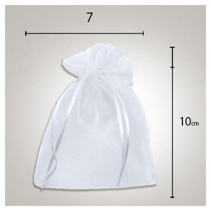Saco de Organza 7 x10 Branco