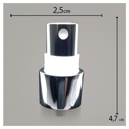 Válvula Spray Perfil Alto Prata R20