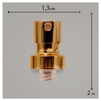 Mini Válvula Spray Dourada