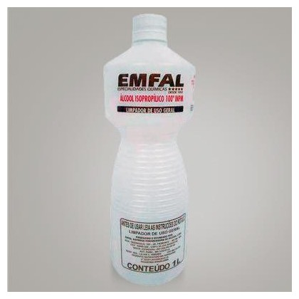 Álcool Isopropílico INPM Emfal 1L