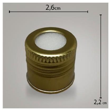Tampa Alumínio Ouro C/ Furo R247