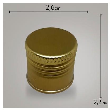 Tampa Alumínio Dourada R24