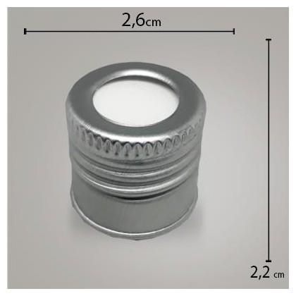 Tampa Alumínio Prata C/ Furo R 24