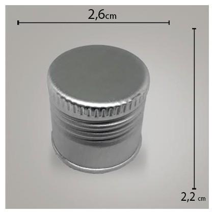 Tampa Alumínio Prata R 24