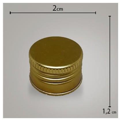 Tampa Metal Dourada R18