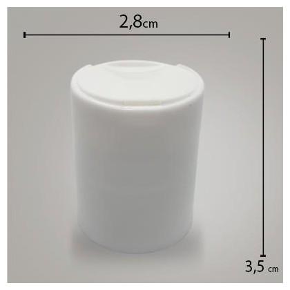 Tampa Disk Topo Branca R24