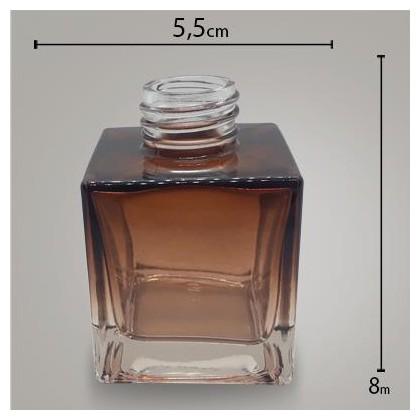 Frasco Cube Citrino Degradê 100ml