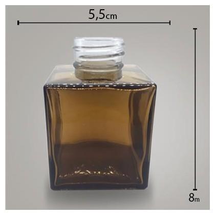 Frasco Cube Ambar 100ml