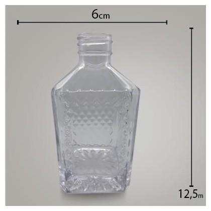 Frasco Bico de Jaca Cristal 220ml