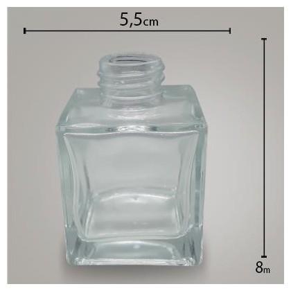 Frasco Cube Cristal 100ml