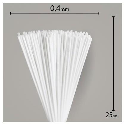 Vareta de Feltro Branca 25cm