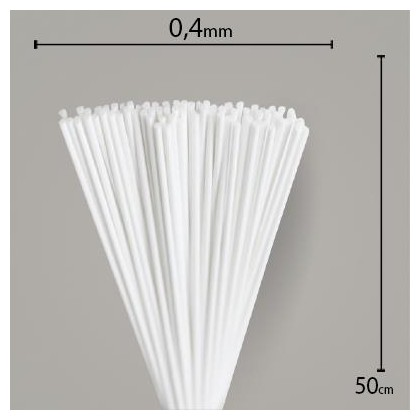 Vareta de Feltro Branca 50cm