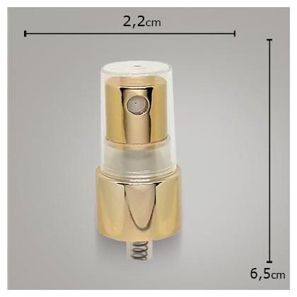 Valvula Spray Luxo Dourada TP Transp